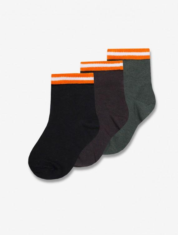 Комплект носков с яркой окантовкой Глория Джинс