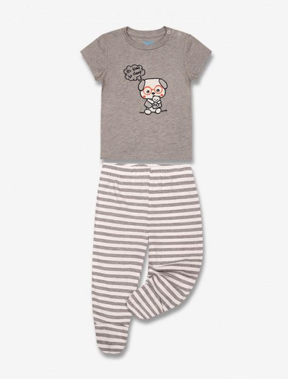 Комплект из футболки и ползунков Глория Джинс