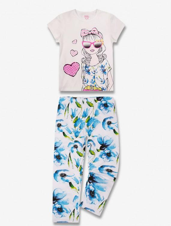 Комплект из футболки и брюк Глория Джинс