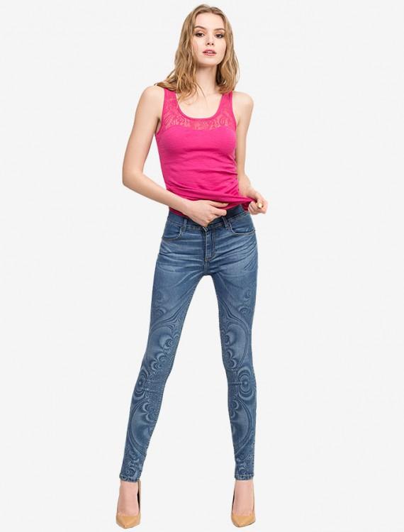 Джинсы Legging с узором в стиле Art Graphic Глория Джинс